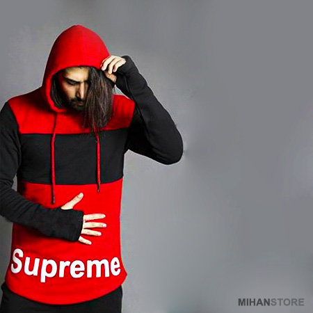هودی کلاه دار مردانه Supreme